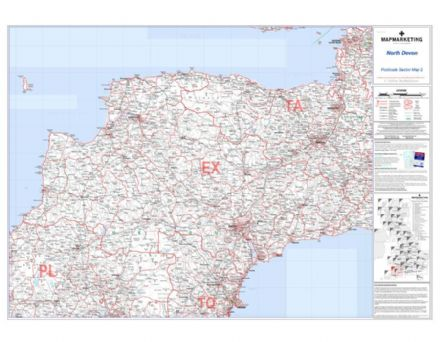 Postcode Sector Map 2 North Devon